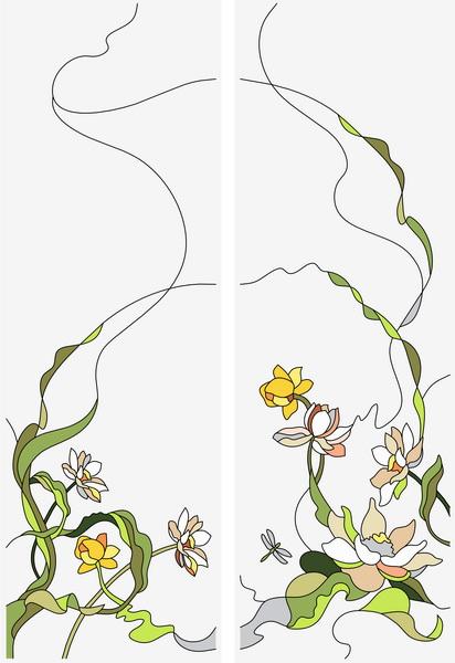 Витражные рисунки для двухстворчатых шкафов-купе - steklo21.ru