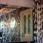 Гравировка зеркала ромбами — Мир стекла и зеркал Чебоксары