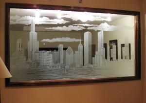 Пескоструй зеркала — компания Мир стекла и зеркал