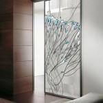 Межкомнатные двери триплекс с витражом — Мир стекла и зеркал Чебоксары