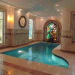 Витраж заливной для бассейна — компания Мир стекла и зеркал