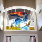 Витраж заливной для входной двери — компания Мир стекла и зеркал