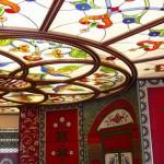 Витраж заливной для потолка прихожей — компания Мир стекла и зеркал