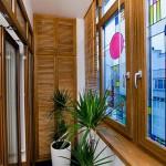 Витраж заливной для балконного окна — компания Мир стекла и зеркал