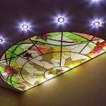 Витраж заливной лаковый для потолка — компания Мир стекла и зеркал