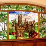 Витраж заливной для ниши — компания Мир стекла и зеркал
