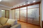 Стеклянные двери для гостиной с рисунком — Мир стекла и зеркал