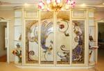 Двери купе заливной витраж — компания Мир стекла и зеркал