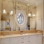 Зеркальное панно в ванной — Мир стекла и зеркал