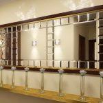 Зеркальное панно из квадратов — Мир стекла и зеркал