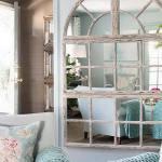 Зеркальное панно в стиле прованс — Мир стекла и зеркал