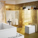 Золотая зеркальная плитка — Мир стекла и зеркал Чебоксары