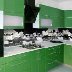 Кухня фиолет черный