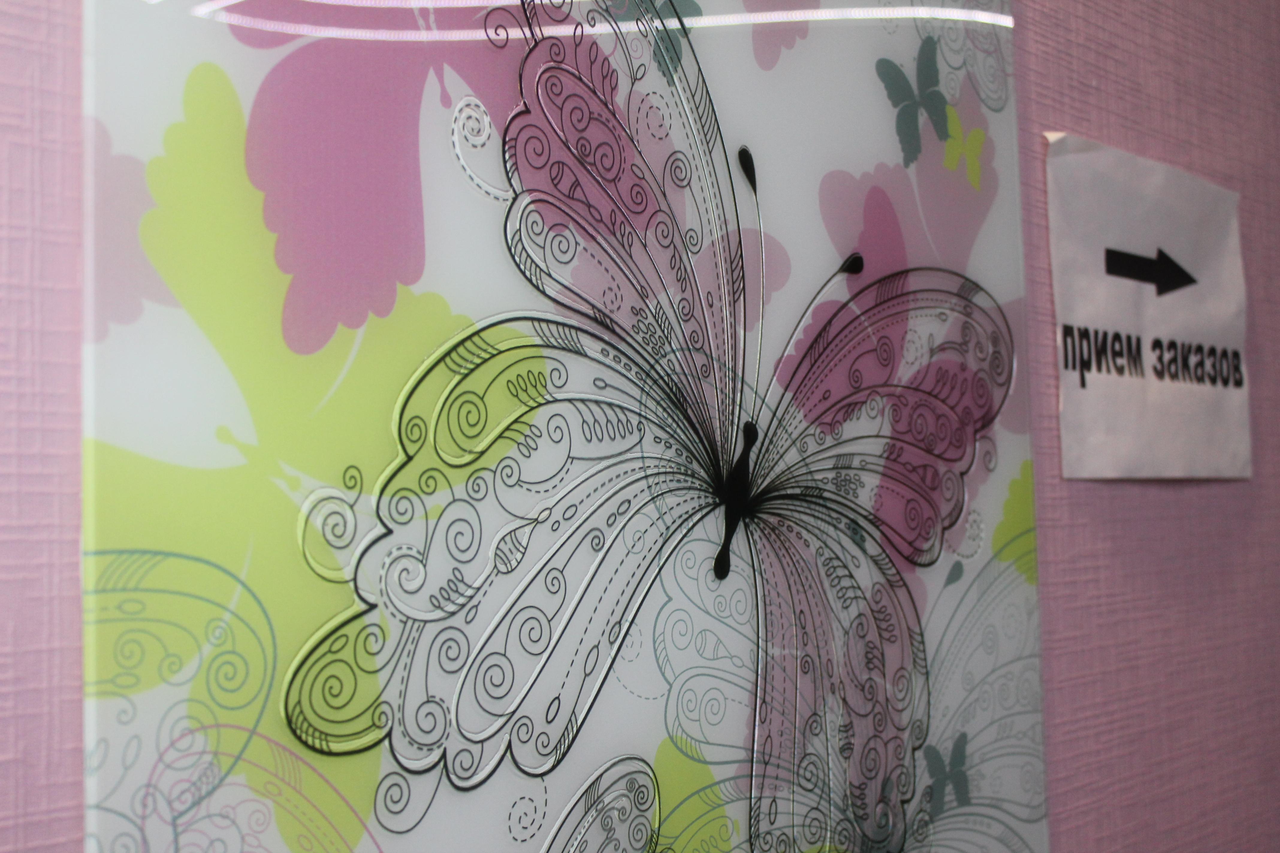 Бабочки+прозрачный контур
